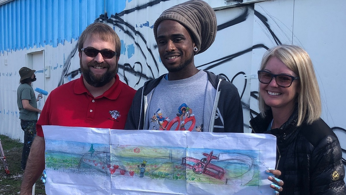 R.B. Hudson students partner with community groups to beautify Selma