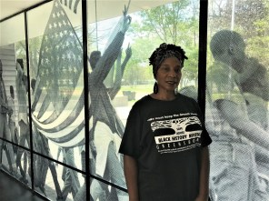 Theresa Davis, executive director of the Safe House Black History Museum, is named after Theresa Burroughs. (Michael Tomberlin / Alabama NewsCenter)