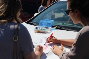 Teachers and staff from Sylacauga's Indian Valley Elementary School prepare to parade the city's neighborhoods to let their students know they miss them. (contributed)