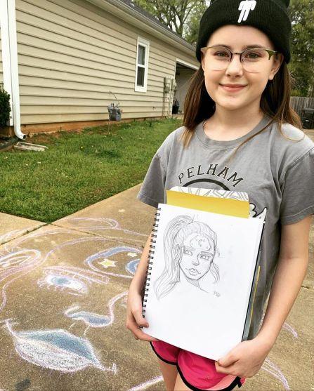 Maya Jeffcoat, daughter of Heather Jeffcoat, shows off her artistic skills during the school break. (Heather Jeffcoat)