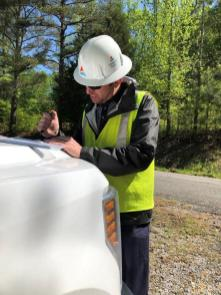 Alabama Power crews have been working around the clock to restore power to those who lost it during the Easter Sunday storms. (Misty Kerr/Alabama Power)