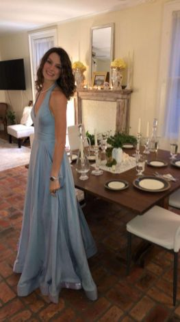 """The table is set for Julia Larriviere's elegant """"prom"""" dinner at her Mobile home. (Photos courtesy of Nicole Larriviere)"""