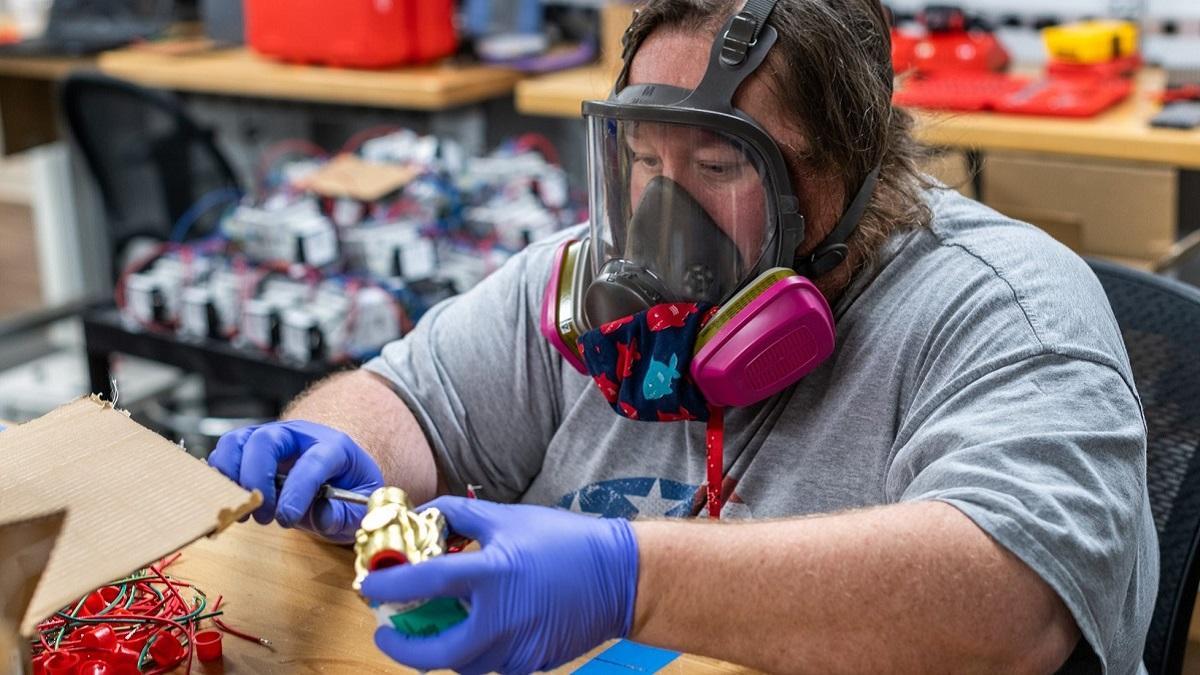 Auburn teams assemble 100 RE-InVENT emergency ventilators