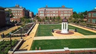 The Auburn University campus appears deserted, but faculty and staff in several departments are actively engaged in the fight against COVID-19. (Auburn University)