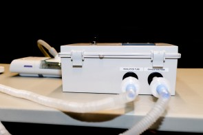 Auburn University engineers have devised a way to turn CPAP machines into emergency ventilators to help relieve the shortage of the lifesaving machines. (Auburn University)