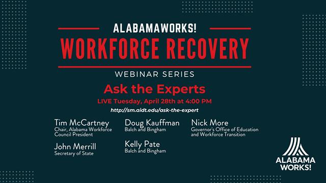 AlabamaWorks! and Alabama Workforce Council host COVID-19 webinar series