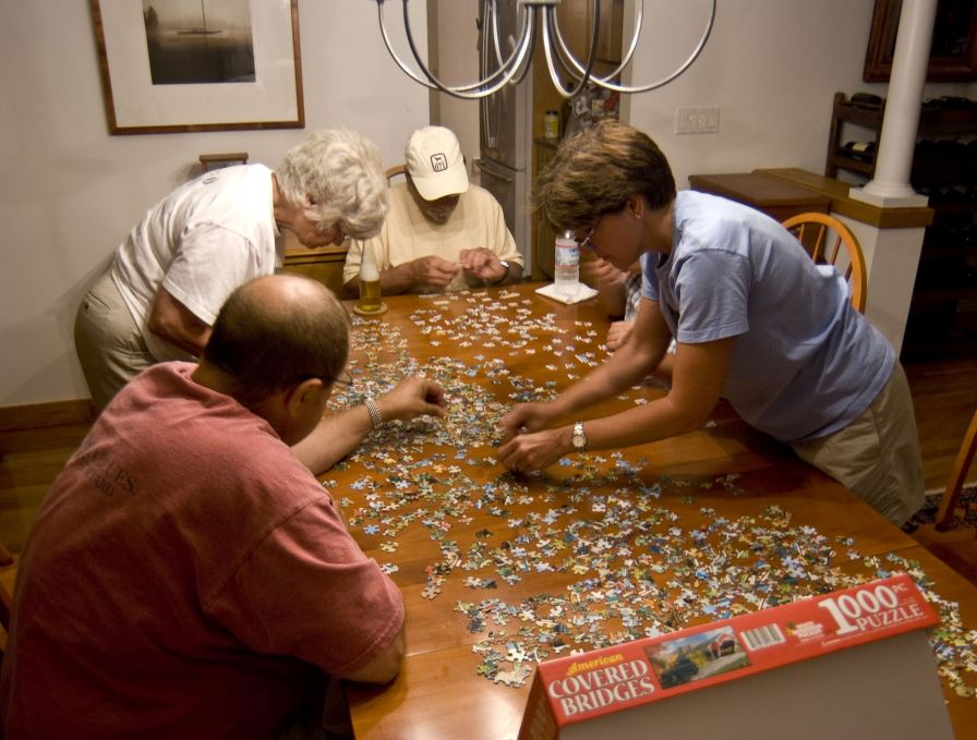 Interacting with your family while building a puzzle increases conversation and closeness while sharpening mental acuity. (contributed) MR