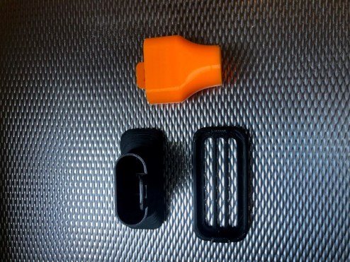 3D printed pieces for medical PPE. (Image courtesy of Altamont School)