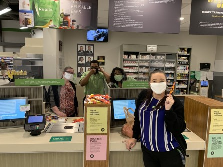 The Alabama Productivity Center has produced ear relief straps for workers in grocery stores in west and central Alabama. The 3D-printed straps make wearing a mask less uncomfortable. (Alabama Productivity Center)