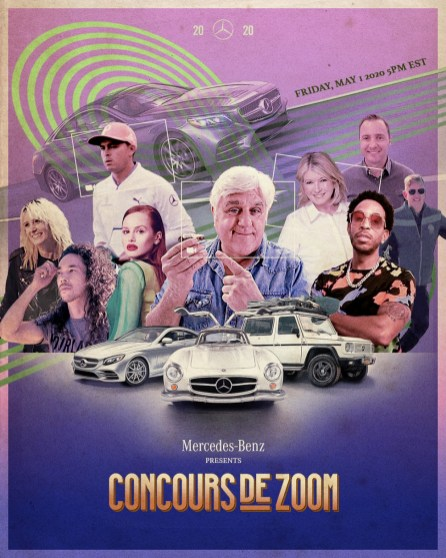 Stars with their cars is what you can expect with the first-ever Mercedes-Benz Concours de Zoom. (Mercedes-Benz USA)
