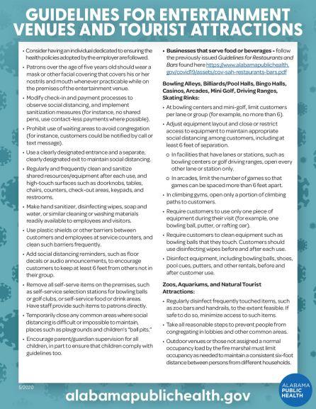 Entertainment Venue guidelines part 2