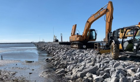 TNCA says contractors used 51,000 tons of rock to build the breakwaters and jetties. (Dennis Washington / Alabama NewsCenter)