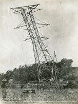 Transmission tower construction, 1913. (Alabama Power Company Archives)