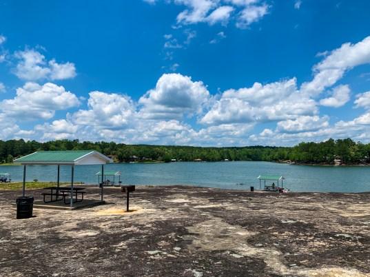 The day-use recreation area at Flat Rock Park along Alabama Power's Lake Harris. (Dennis Washington/Alabama NewsCenter)
