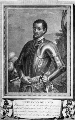Hernando de Soto explored the southeastern U.S. for Spain in the 16th century. (Wikipedia)