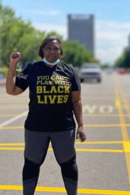 Cara McClure, co-founder of Black Lives Matter Birmingham, spearheaded the street painting project. (contributed)