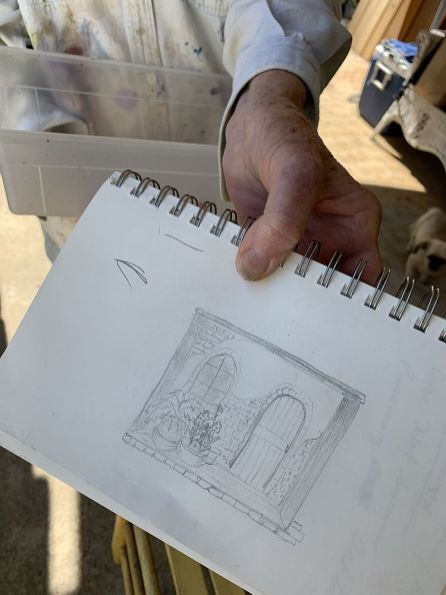 One of Wilson's sketches. (Donna Cope/Alabama NewsCenter)