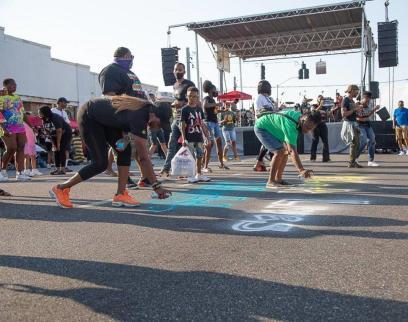 Street art in Prichard shows support for Black Lives Matter. (Raquel Jones / Alabama NewsCenter)