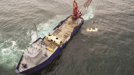 The repurposed tanks are the first of 26 new artificial reefs to be deployed by the Alabama Wildlife Federation off the Alabama Gulf Coast. (Danny Hamm / Alabama Power)
