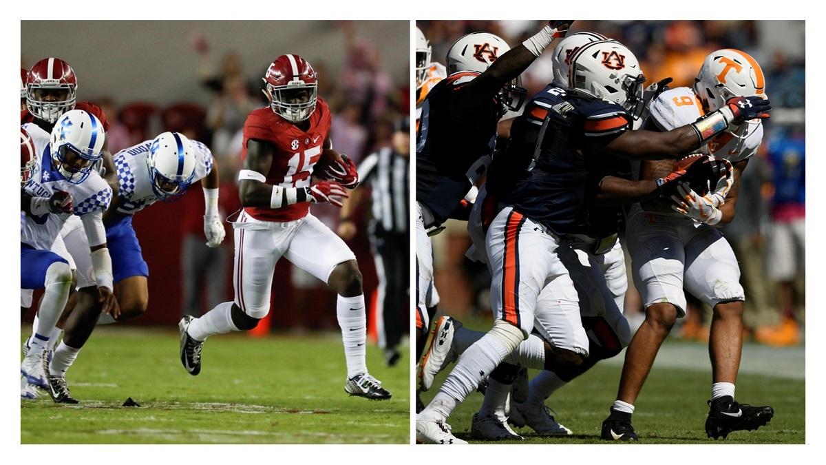 Added SEC opponents named for Alabama, Auburn