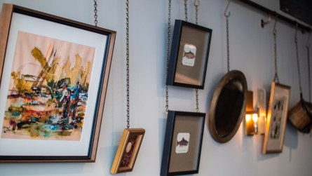 Emily McDaniel says the antique art inside Helen reflects their personality. (Dennis Washington / Alabama NewsCenter)