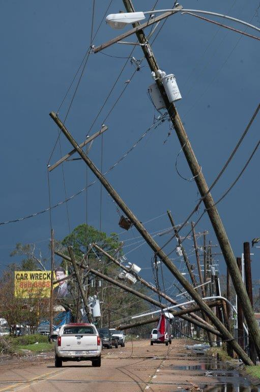 Hurricane Laura devastated the electrical infrastructure in the Lake Charles area of Louisiana as well as other parts of the state and Texas. (Entergy)