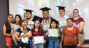 Latino families celebrated students' graduation from Junto (or Together), which is HICA's College Readiness Program. (Deyse Lopez/Alabama Power)