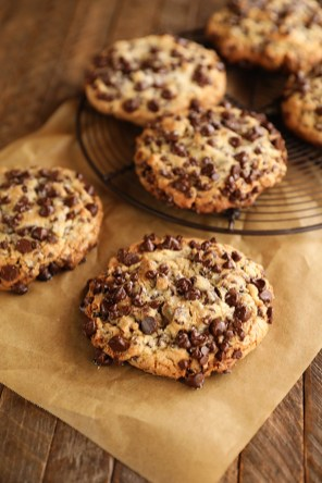 White sugar makes these chocolate chip cookies crispy on the outside. The molasses in the brown sugar makes them chewy. (Stacey Little/Southern Bite)