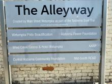 The Alleyway in downtown Wetumpka was a collaborative effort led by Main Street Wetumpka. (Michael Jordan / Alabama NewsCenter)