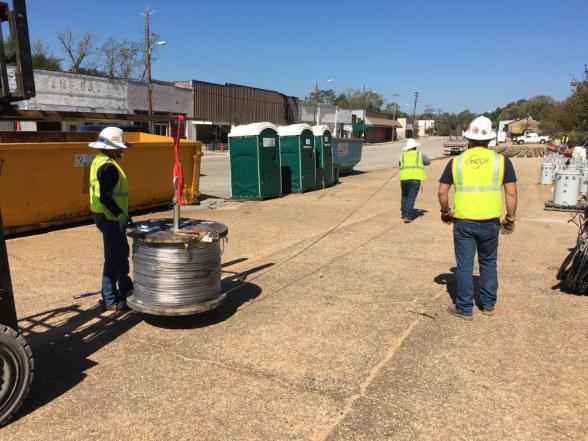 Southern Company's Supply Chain Management ensures line crews like those at Alabama Power have the materials they need when they need them to quickly and efficiently restore service after a storm like Hurricane Zeta. (Alabama NewsCenter staff)