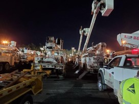 Alabama Power's Fleet Services not only supports its own crews, it supports those crews from the 19 states and Canada here to help restore power after Hurricane Zeta. (Alabama NewsCenter staff)