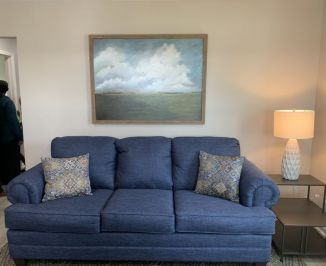 The comfortable living room. (Donna Cope / Alabama NewsCenter)