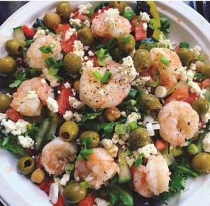 Bigbee Coffee Roasters' rotating menu continues to expand and includes shrimp salad. (Bigbee Coffee Roasters)