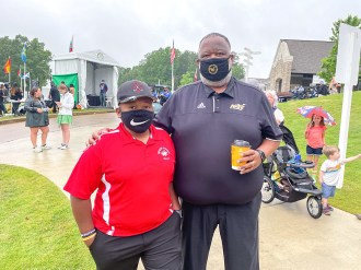 Alabama State coach Donald Hill-Eley participated in the Regions Tradition pro-am. (contributed)