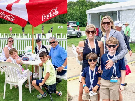 The return of the Regions Tradition brought friends and families back to the course, watching the action while maintaining social distance. (contributed)