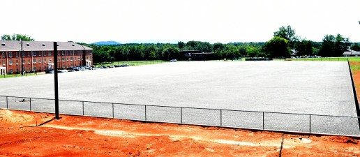 A multipurpose field under development at Talladega College could be the site of football games if school leaders decide to bring back the sport. (Solomon Crenshaw Jr. / Alabama NewsCenter)