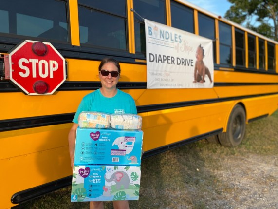Bundles of Hope has distributed over 3 million diapers to families in Alabama since 2015 and is on track to distribute over 1 million in 2021. (contribution)