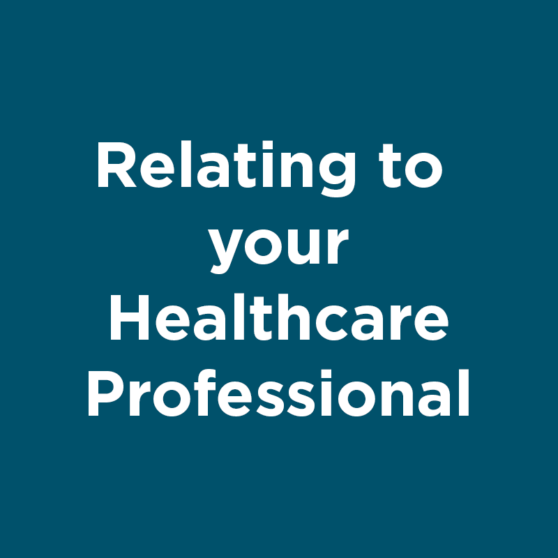 relating to your healthcare professional