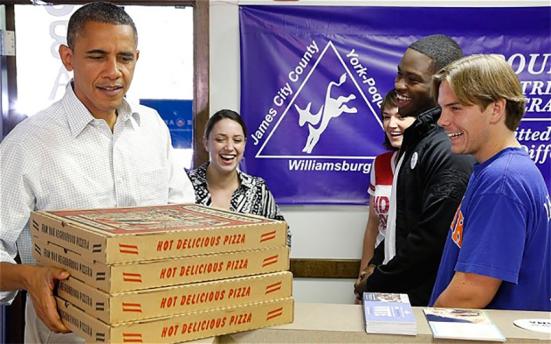 Barack Obama pizza