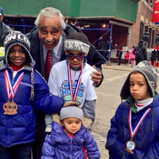 Kids with Congressman Charlie Rangel