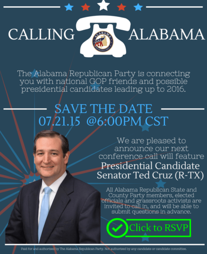 Alabama Conference Call with Ted Cruz