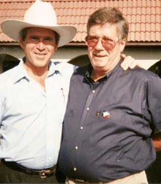 Johnny Williams with George W Bush1