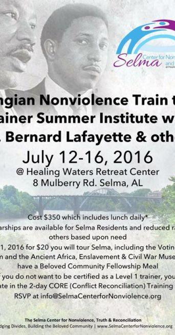 Selma Nonviolence Training poster