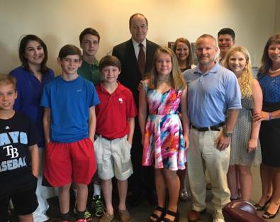 Richard Shelby and JDRF advocates