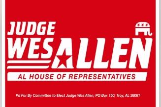 Wes Allen campaign sign