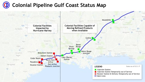 Colonial Pipeline_Harvey Status Map