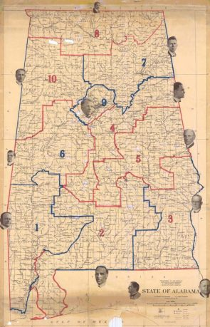1920 Map of Alabama Districts