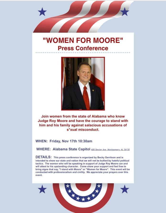 Women for Moore Press Conference