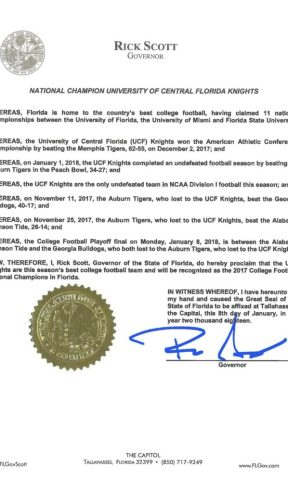 Rick Scott Proclamation