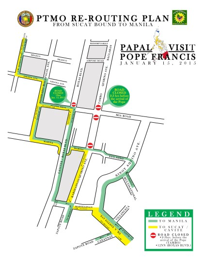 Papal Visit Re-Routing Map copy